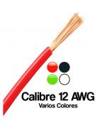 Calibre 12 AWG, Cable electrico Calibre 12 duplex, Sencillo, Blanco, Negro, Rojo, etc