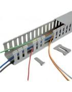 Organizador de Cable, Canaleta Ranurada, Canaleta para muchos cables, Canaleta Gris